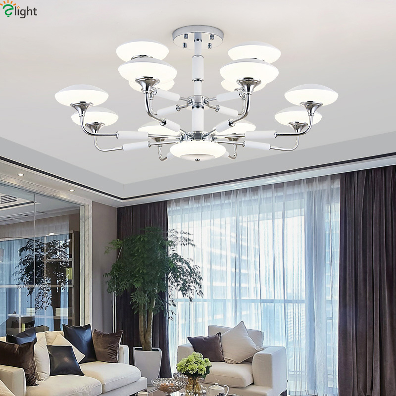 Modern Lustre Chrome Metal Led Chandeliers Lighting Bedroom Acrylic Led Pendant Chandelier Lights Hanging Lamp For Living Room цены
