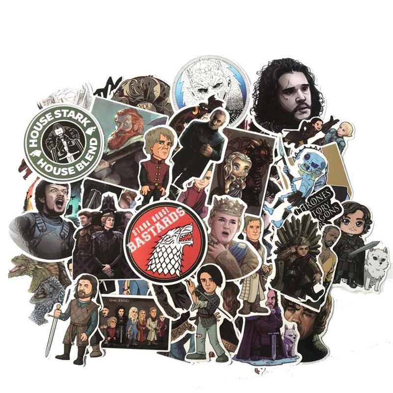 61 pcs Movie Game of Thrones Mala Dos Desenhos Animados Adesivo Decalque DIY Scrapbook Artesanato Decor cosplay prop