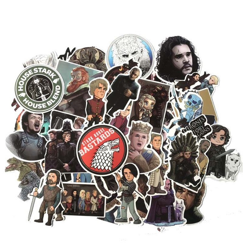 61 PC Movie Game of Thrones Decalcomanie per la valigia Sticker Cartoon Cartoon DIY Scrapbook Making Decor Prop Prop