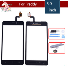 5.0 New freddy For Wiko Freddy Touch Screen Digitizer Sensor Outer Front Glass Lens Panel Replacement freddy s7mt1p1a