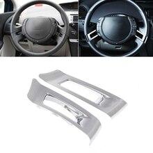 Hot New 1 Coppia ABS Chrome Auto Car Steering Wheel Cover Inserisci Sticker Trim Decorazione Per Citroen C-Quatre 2012