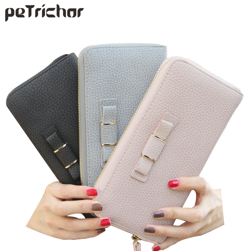 Card Holder Wallet Women Luxury Leather Wristlet Purse Female Clutch Bag Zipper Coin Large Wallet Phone Bag Long Wallet For Lady pu leather wallet heels wallet phone package purse female clutches coin purse cards holder bag for women 2415