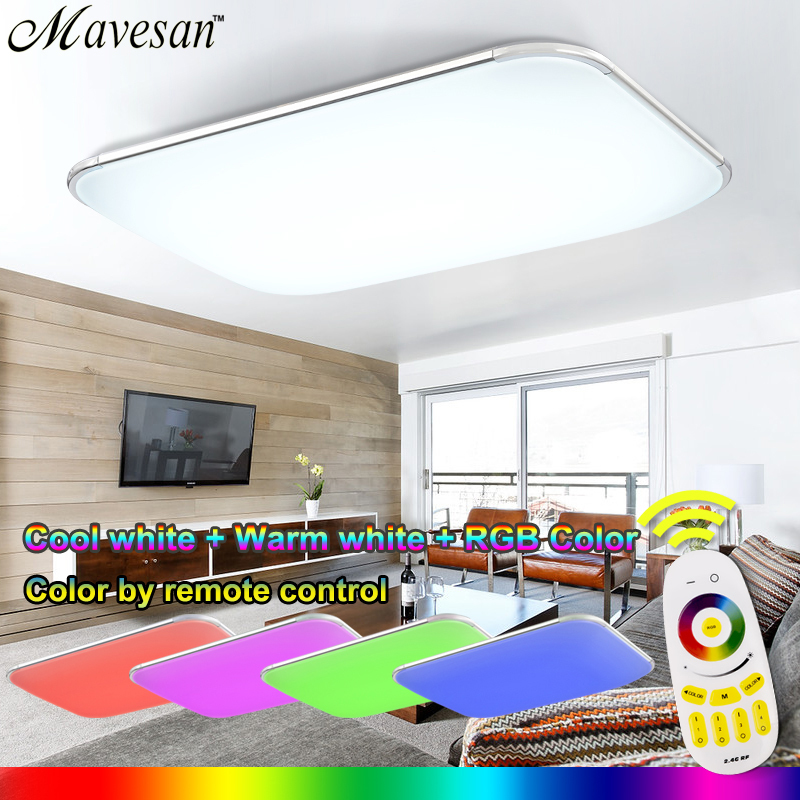 NEW Modern LED Ceiling Light With 2 4G RF font b Remote b font Group font