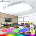 NUEVO Grupo Moderno LLEVÓ la Luz de Techo Con 2.4G RF Remoto Controlado Regulable de Color Cambio de La Lámpara De Salón Dormitorio