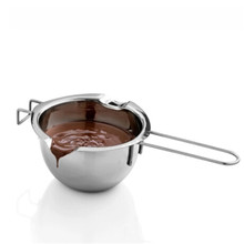Hot Sale Stainless Steel Chocolate Melting Pot Furnace Heated Milk Bowl with Handle Heated Butter Tool Baking Pastry Tools