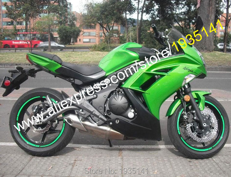 Hot Sales,Body Kit For Kawasaki Ninja ER-6F 2012-2015 ER6F 12 13 14 15 ER 6F 650R Green Black Bodyworks Motorbike Fairing Kit