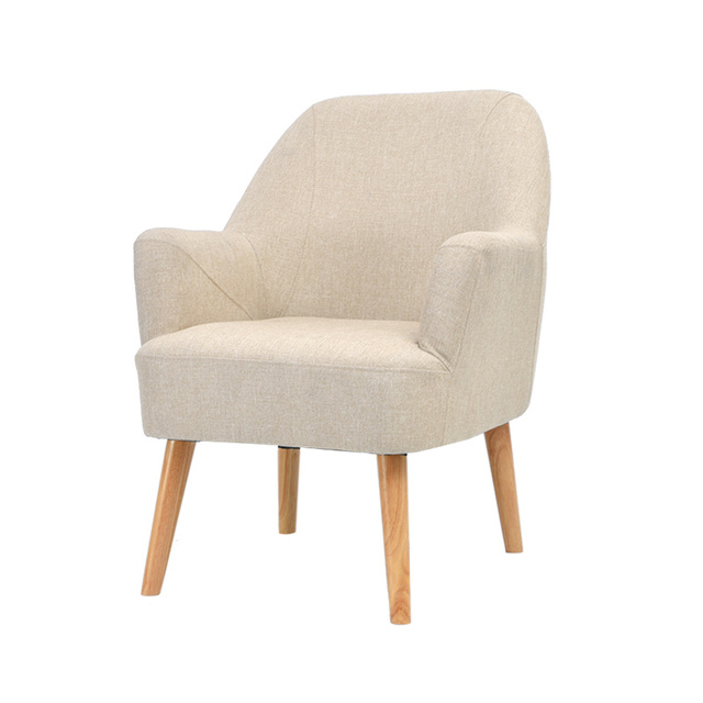 Beau Leisure Individual Simple Sofa Cloth Seat Household Bedroom Lazy Sofa Chair  Multifunction Comfortable Balcony Sofa Wooden