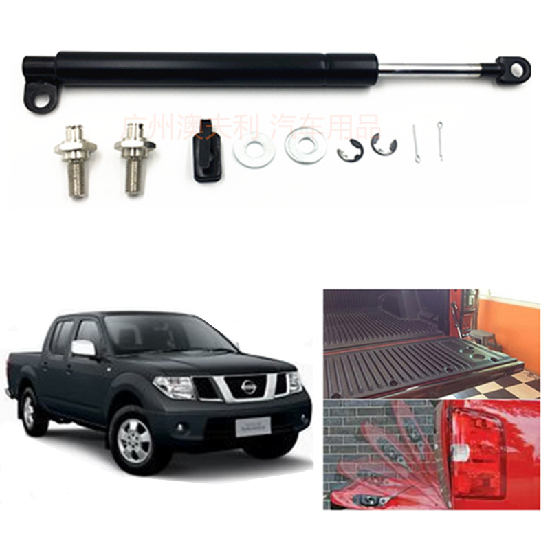 For Nissan Frontier Navara D40 2005-2014 1PCS Stainless Steel Rear Tailgate Slow Down Shock Up Lift Gas Strut  Car Accessories diff drop kit for hilux