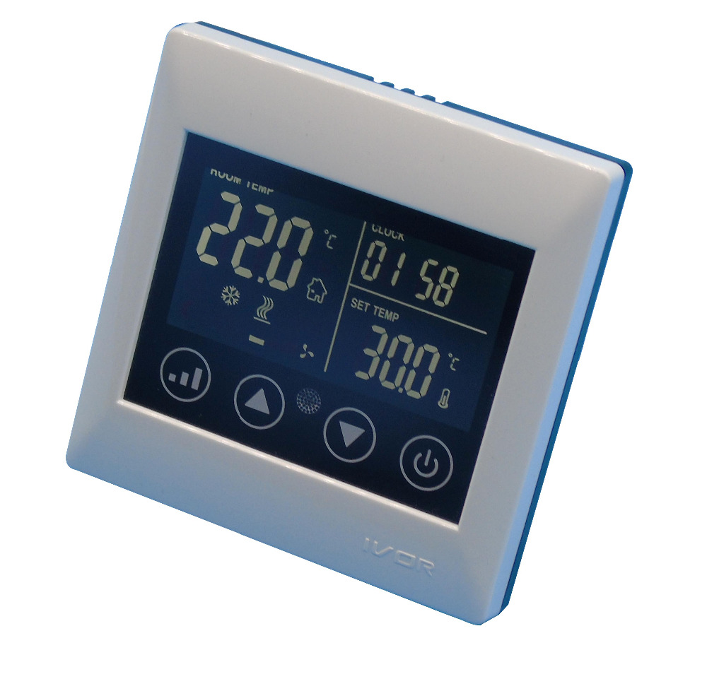 110~240VAC  2 pipes cooling/heating thermostat with temperature control switch 7 24h programmable adjustable thermostat temperature control switch with child lock