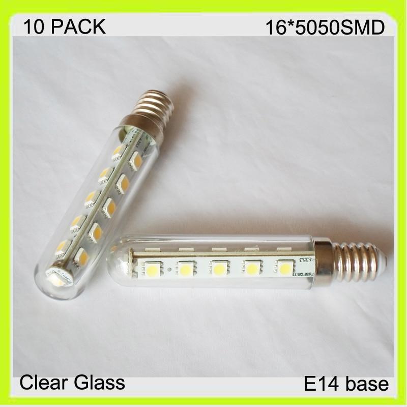 Manufacturer 3W 10 PACK 16*5050SMD mini LED corn light led bulb clear glass warm cool white 300LM E14 screw 220v 230v 240v 120v