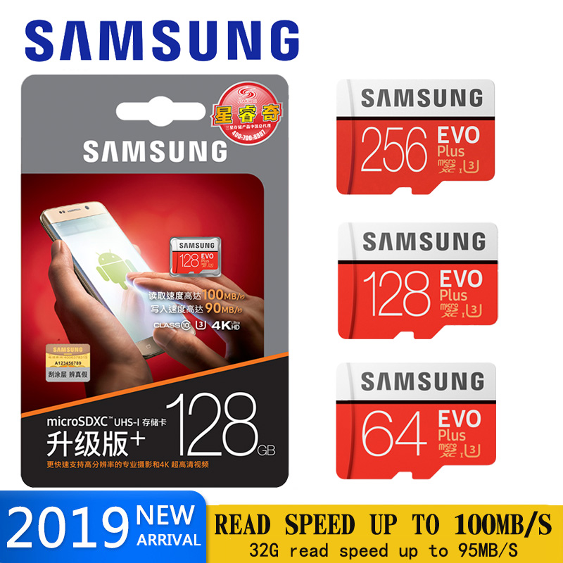 SAMSUNG micro sd Memory Card 128GB EVO plus U3 512GB 256GB 64gb Class10 Micro SD Card 32GB microSD UHS I sd/TF Card for phone-in Micro SD Cards from Computer & Office