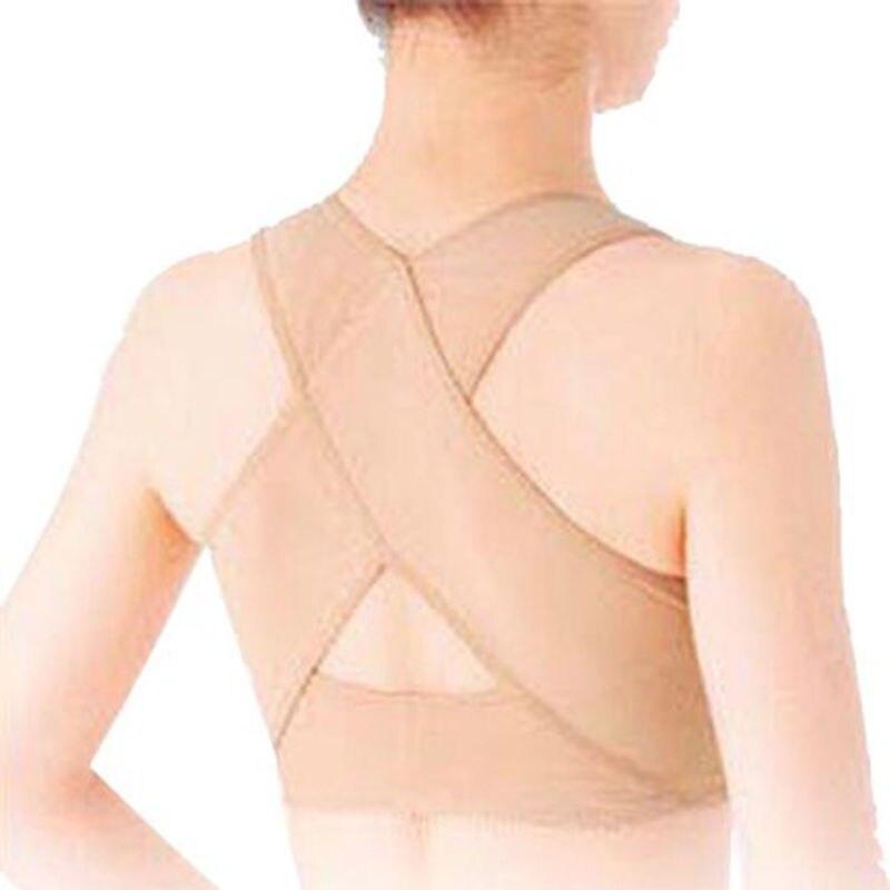 Women Bra Body Shaper Corset Tops Posture Corrector Back X Type Design Sculpture Back Chest Lines Underwear Black Skin Tone 5