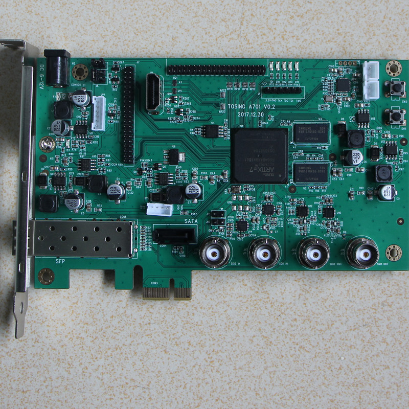 Artix7 Xc7a75T FPGA Development Board SDI LVDS SFP PCIE SATA Video Decoder Board
