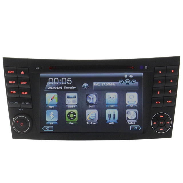 Auto radio FOR MERCEDES W211 Gps navigation Car Dvd Player Steering Wheel Control Reversing Camera Bluetooth Touch Screen Canbus