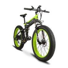Cyrusher 500W 48V 10AH Full Suspension frame Ebike XF690 Fat tire e-bike Folding Electric Bike With Computer Speedometer