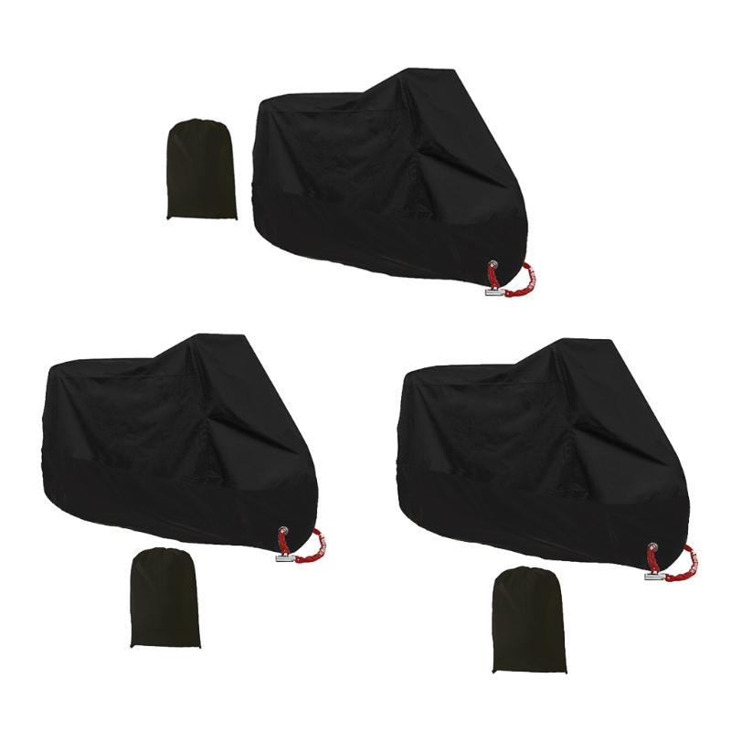 Imperméable à leau en plein air moto UV protecteur pluie poussière vélo moto couverture L/XL/2XL pour motos ATV scooters