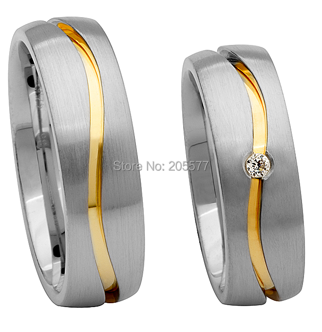 high end custom size Matching Promise Rings jewelry wedding band rings sets for both him and her