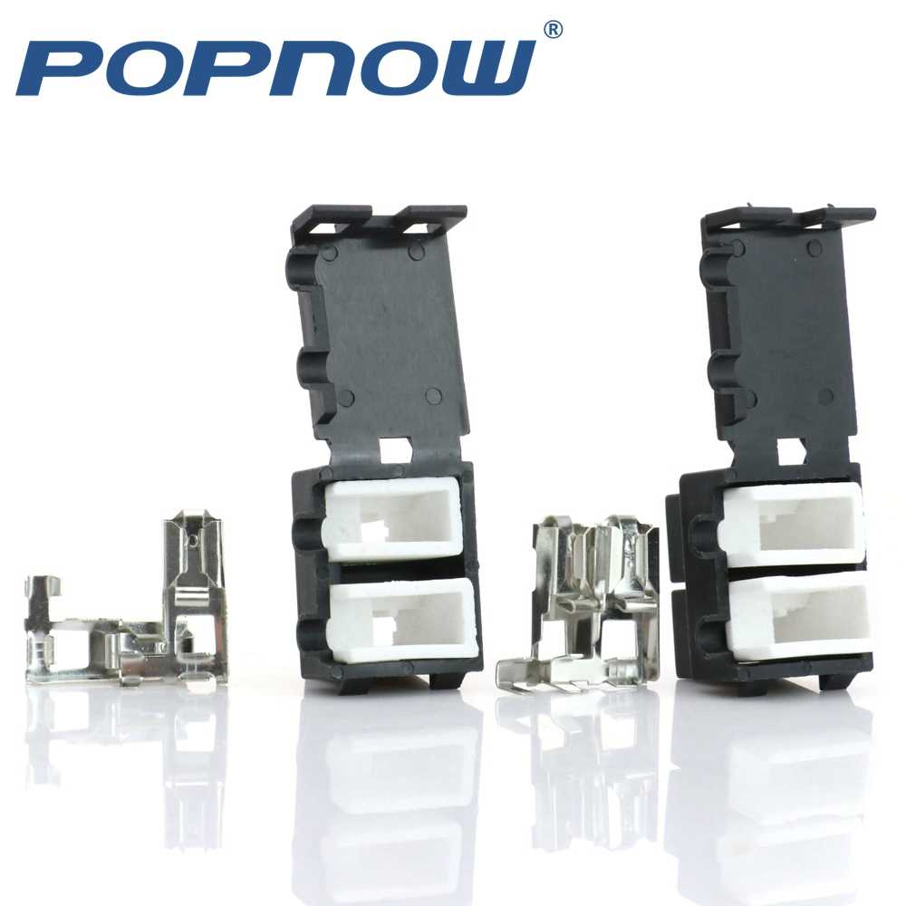 2 sets H7 Lamp Connector Socket Keramische Vrouwelijke H7 Plug Pin Koplamp Adapter voor HID Halogeen Koplamp Xenon H7 Socket
