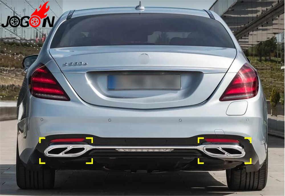 Для Mercedes Benz S класс W222 C217 A217 2019 нержавеющая сталь Задний двойной выхлопной трубы глушитель наконечники