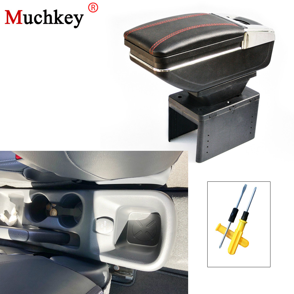 For Nissan Kicks 2017 2018 Armrest box Central Console Arm Rest Box Content Box Cup Holder Ashtray PU Leather car styling universal leather car armrest central store content storage box with cup holder center console armrests free shipping