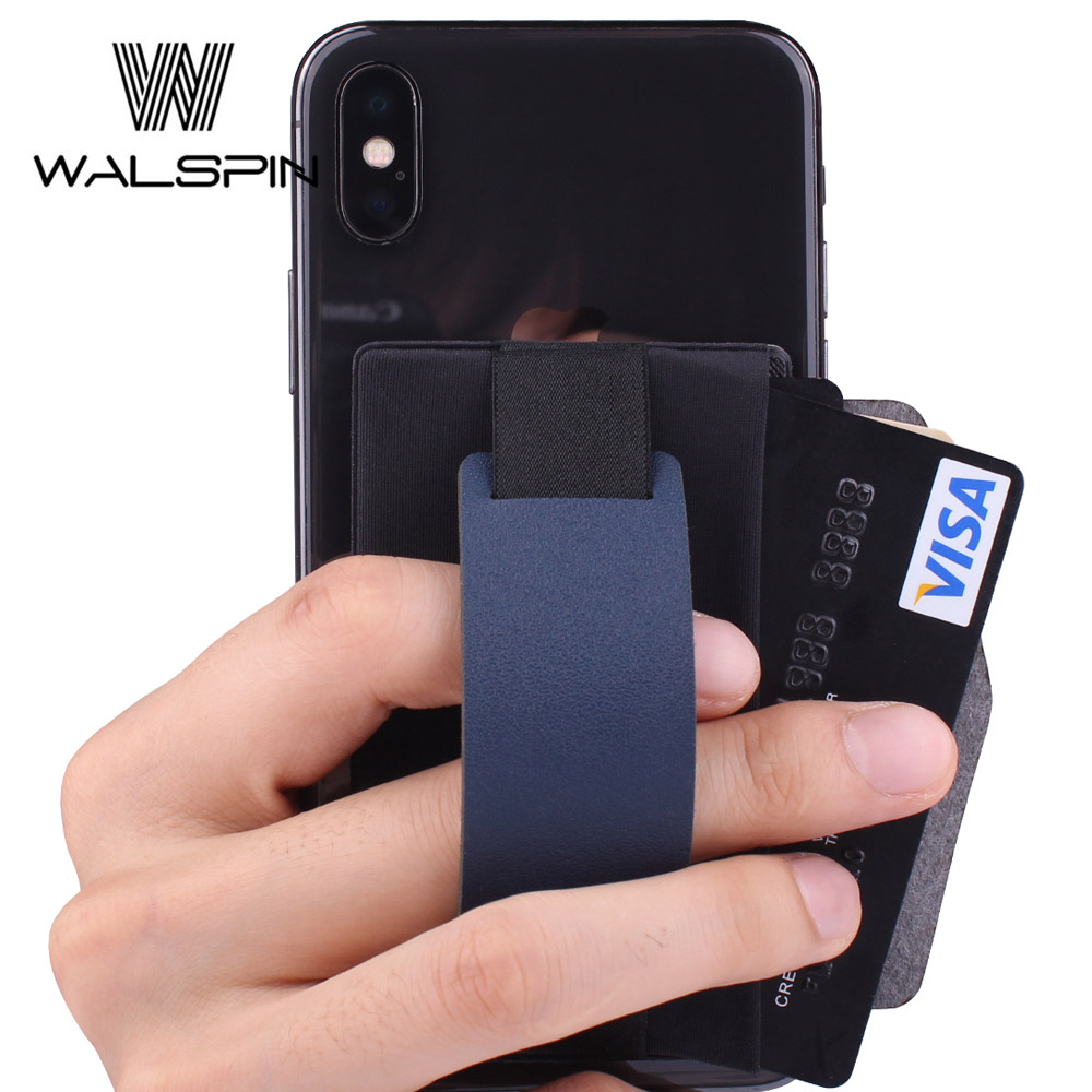 Phone-Card-Holder Mobile Wallet Fashion Lycra with Credit Id-Card Sticker Cell Cover