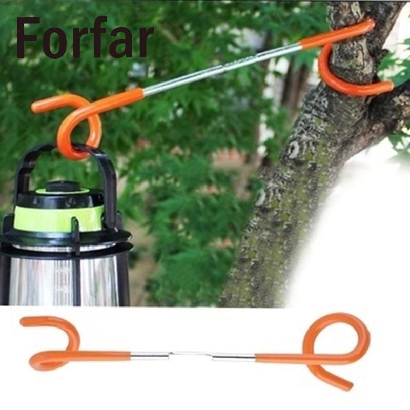 Forfar 2way Lantern Light Hanger Tent Aanti Slip Pole Post Hook Holder Camping Aid