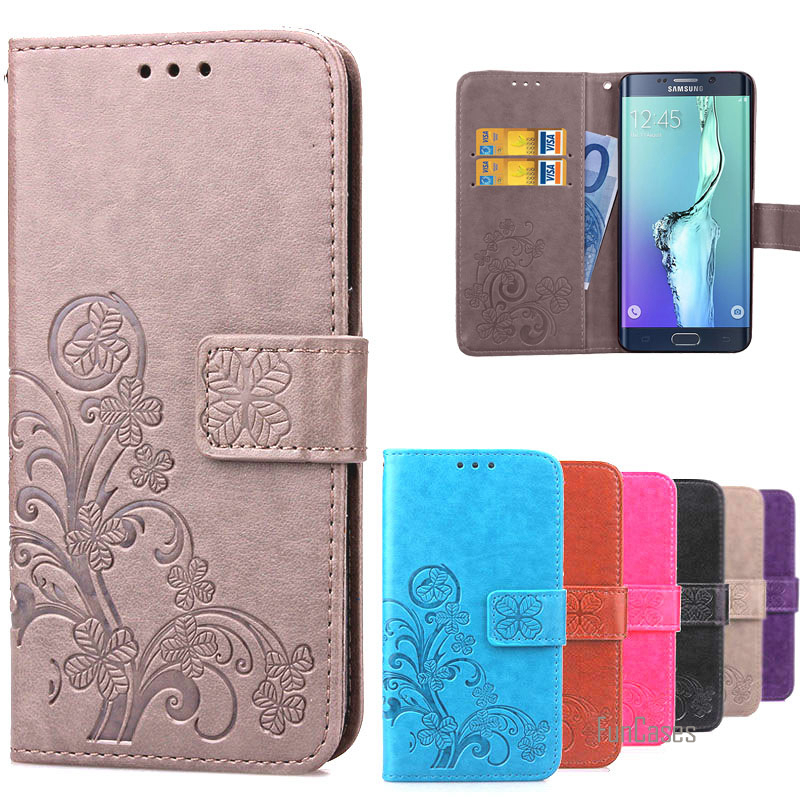Luxury Retro Wallet Book Leather Case For Samsung Galaxy S6 Edge Plus Phone Cover Flip Stand Case For Samsung S6Edge Plus couro