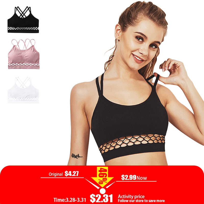 23c3b73e7b Sexy Hollow Bra Brassiere Lingerie Padded Backless Bras For Women Wire Free  Solid Bustier Vest Top