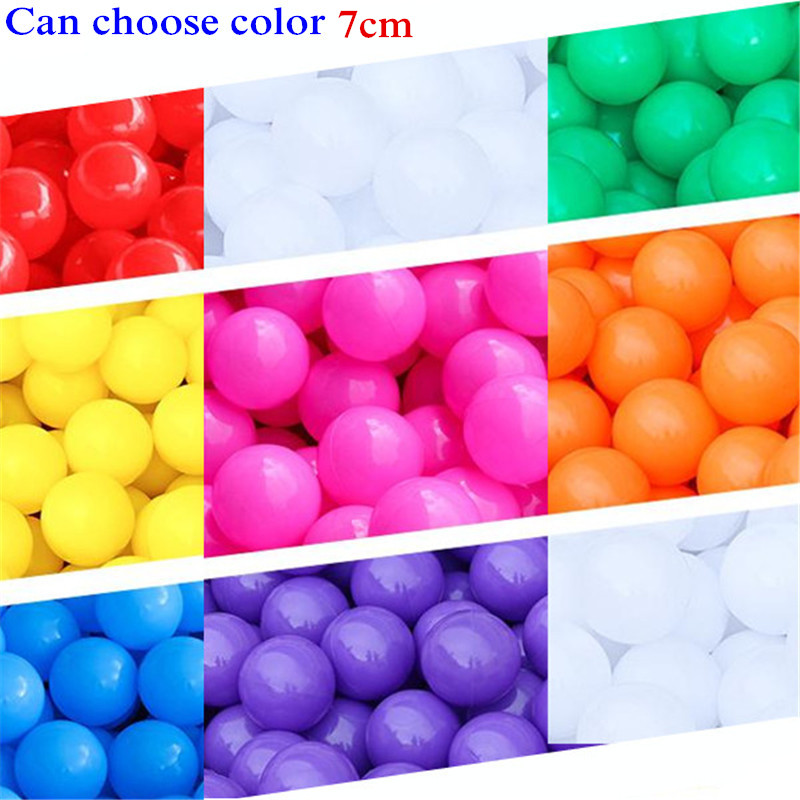 50 Pcs/lot Eco-Friendly Colorful Ball Soft Plastic Ocean Ball Swim Toy Water Pool Ocean Wave Ball 7cm Can Choose Color
