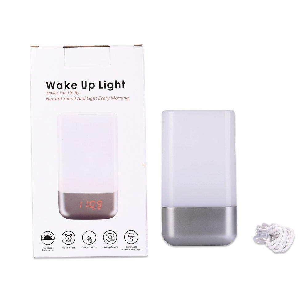 Mabor Wake-up Light Display Bedside Mood Snooze Desk Lamp Alarm Clock Night bulb philips световой будильник wake up light