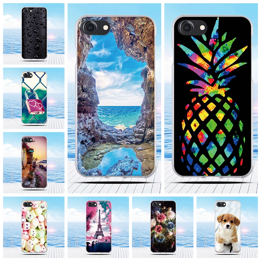 For iPhone 7 Case Cartoon 3D Relief Printing Pattern Back Cover TPU Soft Silicone Case for iPhone 8