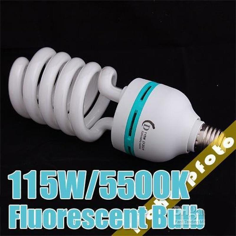 115W 5500K 220V Fluorescent Daylight Photo Bulbs Lamps studio light bulb continuous lighting PSLB2