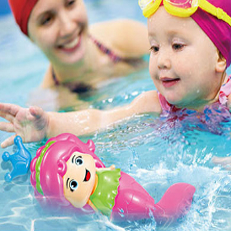 Random Color Baby bath toy Cute Mermaid Clockwork Dabbling ...