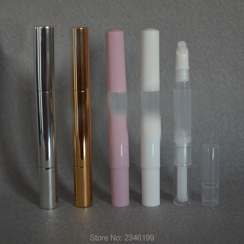 3ML 40pcs/lot Plastic Empty Elegant Lip Gloss Tube, Aluminum DIY Eyelash Growth Liquid  Packaging Container, Beauty Tool growth in cleft lip and palate subjects