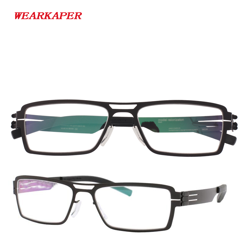 WEARKAPER IC Germany Unique No screw Design Eyeglasses Frames Ultra Light Ultra thin Men/women myopia spectacle frame