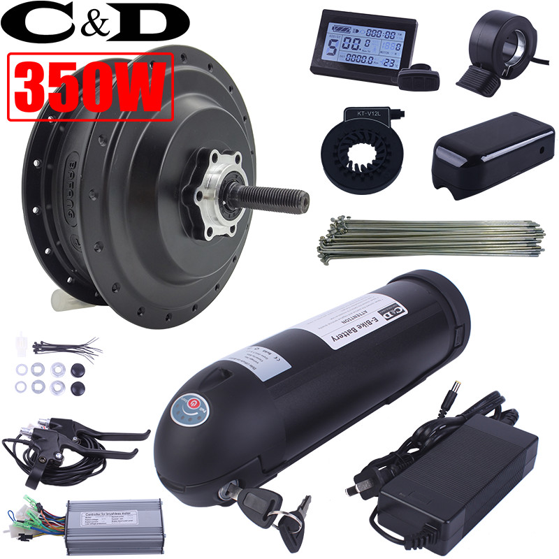 Electric Bicycle Motor Kit With Battery In India: Electric Bike Ebike Conversion Kit Except Rim SWX02 Motor
