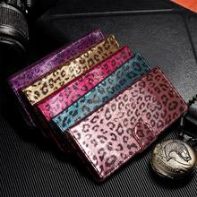 Leopard Print Wallet leather phone case for iphone 6Plus 6s 7 8 Plus X Leather Card Slots Back Cover XS XR MAX