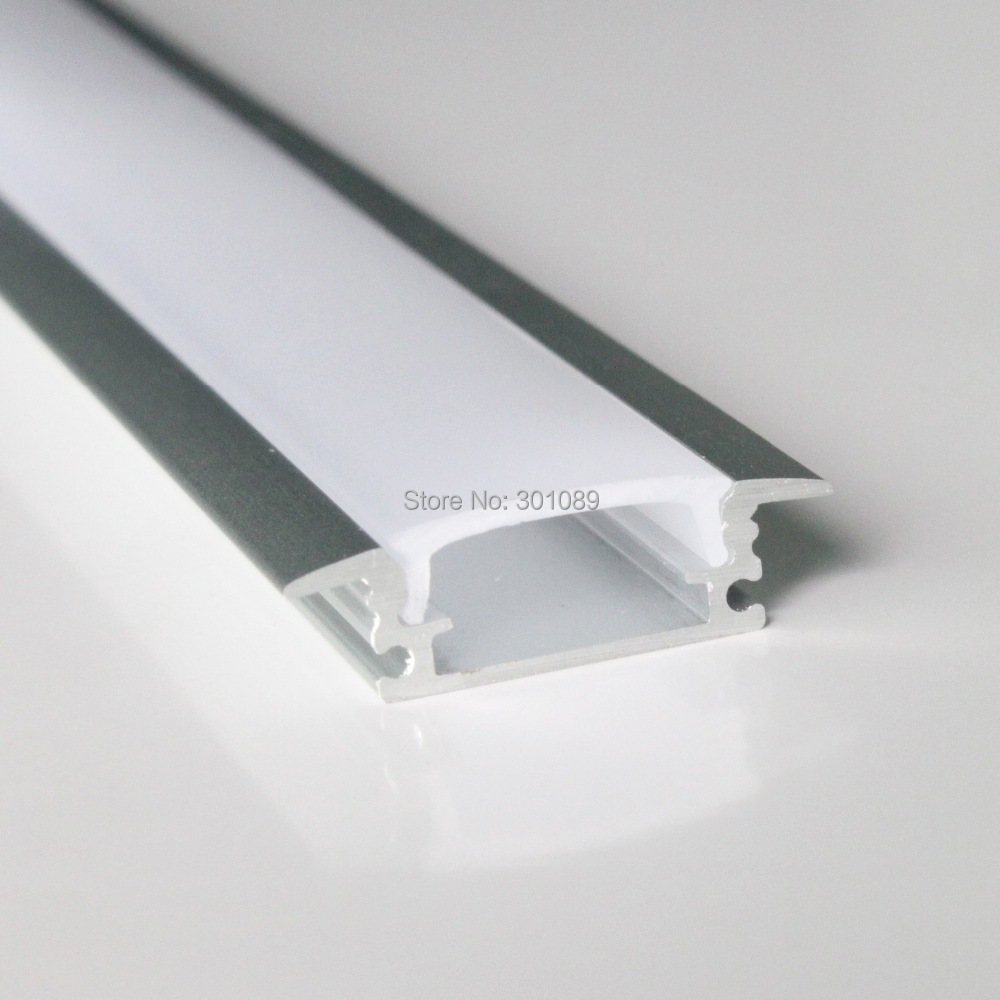 20m (20pcs) a lot, 1m per piece led strip aluminum profile slim AP2507-B-1m with milky diffuse or clear cover