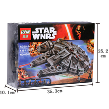 05007 Building Blocks Star Wars The Force Awakens Millennium Falcon Model Rey BB-8 Minifigures Baby Toys Compatible With 79211