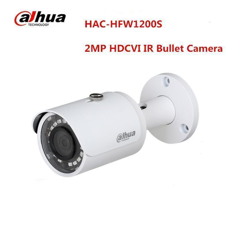 Dahua 2MP HAC-HFW1200S IR 30M HDCVI Bullet Camera Support HD and SD output IP67 dahua 2mp hdcvi camera cctv 1080p water proof ip67 hac hfw1200s bullet camera lens 3 6mm ir leds length 30m mini security camera