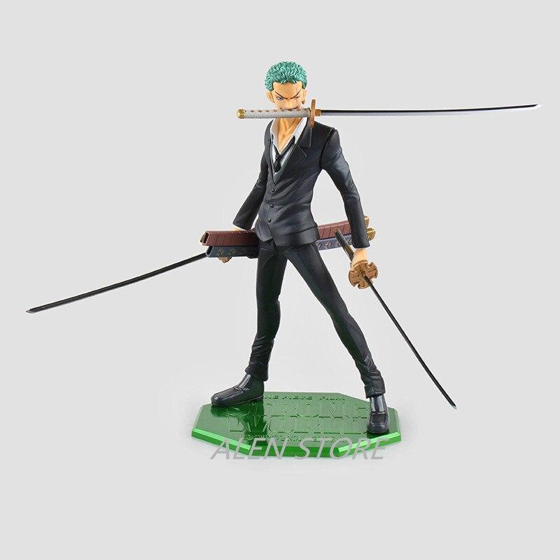 ALEN Japanese Anime ONEPIECE One Piece POP Roronoa Zoro Golden lion theater version Black sauron PVC Action Figure Model ToY
