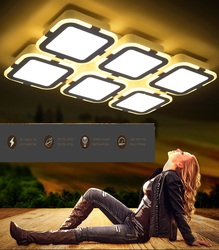 Nowy LED akrylowe prostokątne i kwadratowe sufit salon restauracja ultra cienki oświetlenie