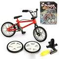 1 Unidades Aleación Mini Dedo Bicicletas BMX Bicicletas juguetes Modelo mini dedo bmx con 2 Herramientas Herramientas Fixie Neumático de Repuesto del Día de Los Niños Regalos de Los Niños