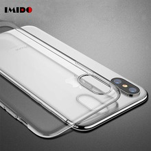 IMIDO Clear Silicon Soft TPU Ultra Thin Phone Case For iPhone 7 Plus Transparent Cover XR XS 8 6 6S Coque