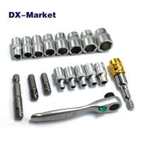 4mm 14mm socket wrench set , High quality mini hex socket ratchet handle wrench DIY tools