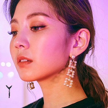 2017 New Trendy Drop Earrings Square simulated Pearl Jewelry Earrings For Women