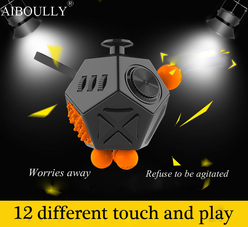 Latest version Fidget Cube interesting high quality 12 Sided Fidget spinner Anti irritability Toy Magic Cobe Antr Stress toy