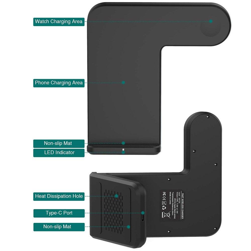 US $21.69 30% OFF|NYFundas bezprzewodowa ładowarka dual dla iphone XS MAX XR X 8 8 Plus szybkie stacja do ładowania dla apple watch iwatch 2 3 4 qi