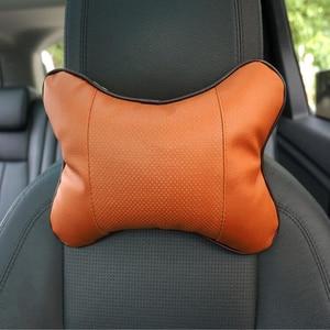Car Leather Safety Pillow Auto Universal Headrest Breathe Car Auto Seat Head Neck Rest Cushion Headrest Pillow Pad Universal Hot