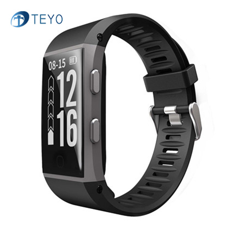 Teyo Smart Band S1 with GPS Heart Rate Monitor Fitness Tracker Bracelet Pedometer Waterproof Smartband Watch For Android IOS